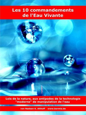 cover image of Les 10 commandements de l'Eau Vivante