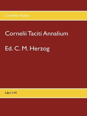 cover image of Cornelii Taciti Annalium