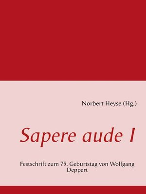 cover image of Sapere aude I