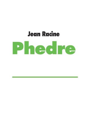 cover image of Phedre