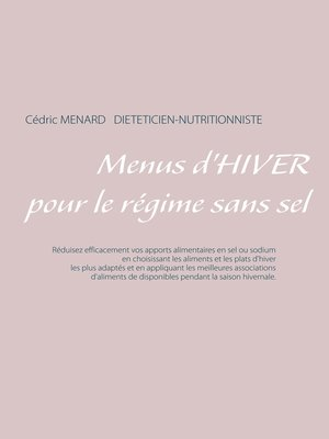cover image of Menus d'hiver pour le régime sans sel