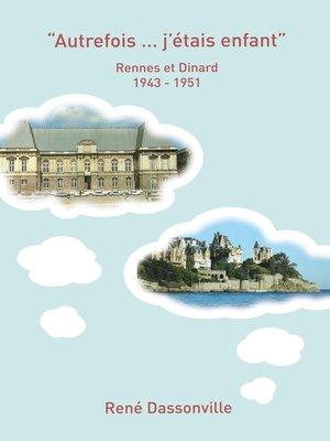 """cover image of """"Autrefois ... j'étais enfant"""""""