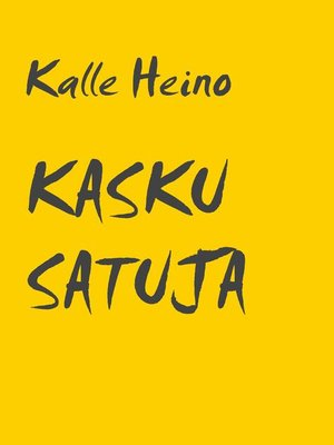 cover image of KASKU SATUJA