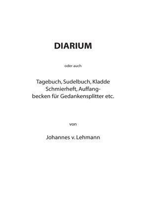 cover image of Diarium