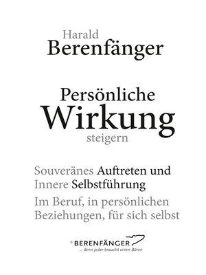 cover image of Persönliche Wirkung steigern