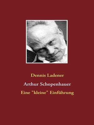 cover image of Arthur Schopenhauer