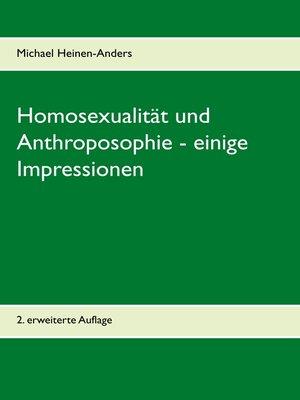 cover image of Homosexualität und Anthroposophie--einige Impressionen