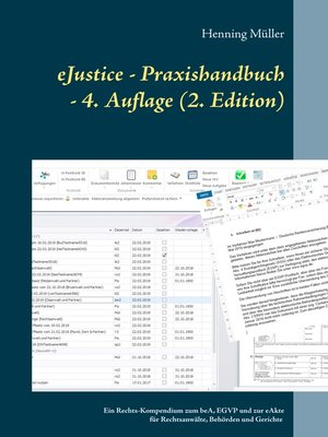 cover image of eJustice--Praxishandbuch