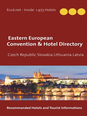 cover image of Czech Republic Slovakia Lithuania Latvia Convention Center Directory