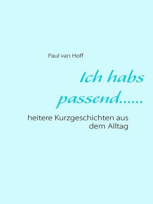 cover image of Ich habs passend......