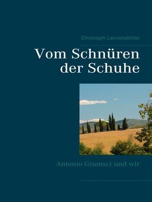 cover image of Vom Schnüren der Schuhe