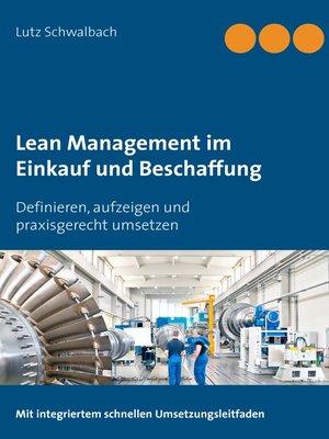 cover image of Lean Management im Einkauf und Beschaffung