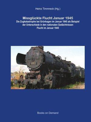 cover image of Missglückte Flucht Januar 1945