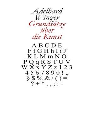 cover image of Grundsätze über die Kunst