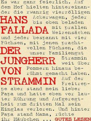 cover image of Der Jungherr von Strammin