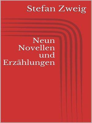cover image of Neun Novellen und Erzählungen