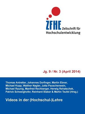 cover image of Videos in der (Hochschul-)Lehre