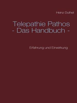cover image of Telepathie Pathos--Das Handbuch