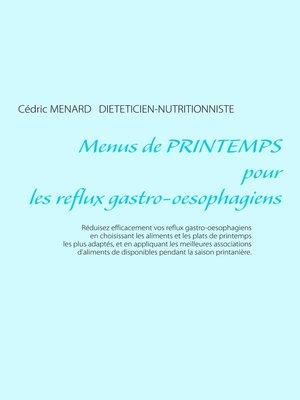 cover image of Menus de printemps pour les reflux gastro-oesophagiens