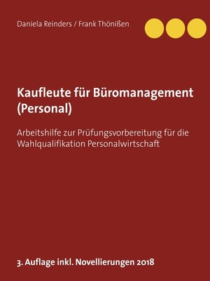 cover image of Kaufleute für Büromanagement (Personal)