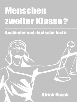 cover image of Menschen zweiter Klasse?