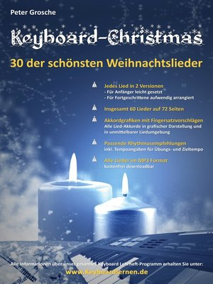 cover image of Keyboard-Christmas--30 Weihnachtslieder für Keyboard