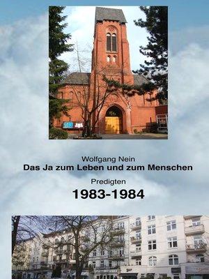 cover image of Das Ja zum Leben und zum Menschen, Band 12
