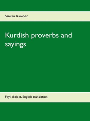 cover image of Kurdish proverbs and sayings