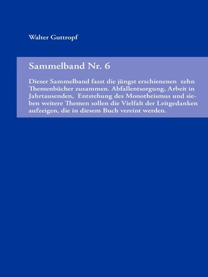 cover image of Sammelband Nr. 6