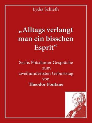 """cover image of """"Alltags verlangt man ein bisschen Esprit"""""""