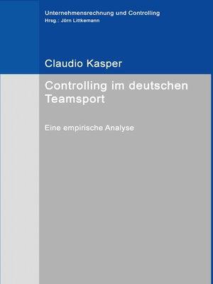 cover image of Controlling im deutschen Teamsport