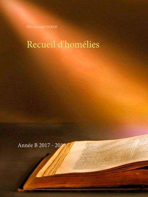 cover image of Recueil d'homélies