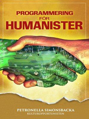 cover image of Programmering för Humanister