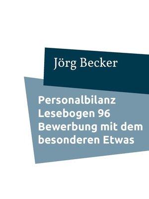 cover image of Personalbilanz Lesebogen 96 Bewerbung mit dem besonderen Etwas