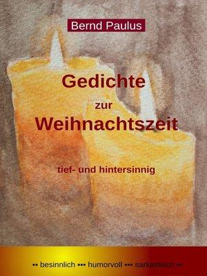 cover image of Gedichte zur Weihnachtszeit