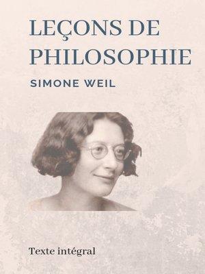cover image of Leçons de philosophie