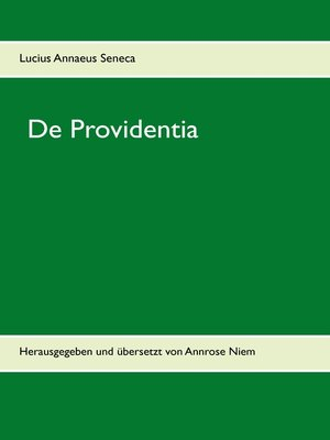 cover image of De Providentia