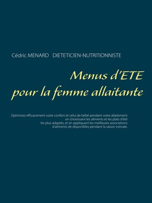 cover image of Menus d'été pour la femme allaitante