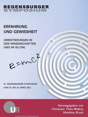 cover image of Erfahrung und Gewissheit