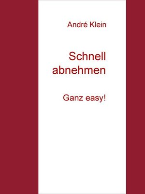 cover image of Schnell abnehmen