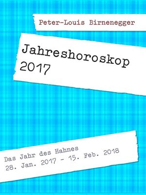 cover image of Jahreshoroskop 2017