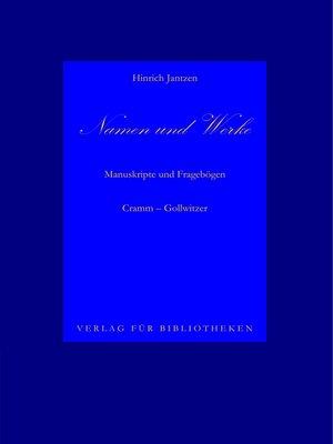 cover image of Namen und Werke 7