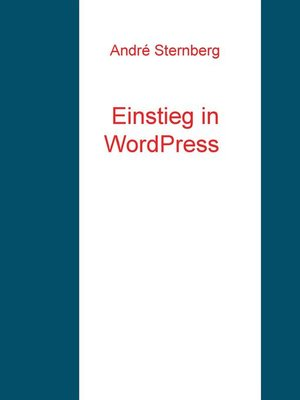 cover image of Einstieg in WordPress