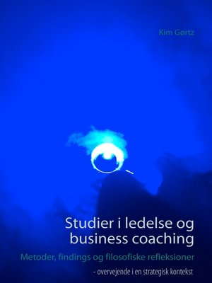 cover image of Studier i ledelse og business coaching