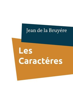 cover image of Les Caractéres
