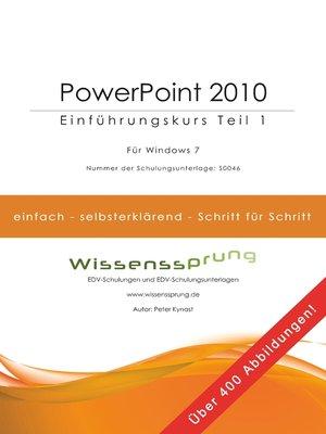 cover image of PowerPoint 2010--Einführungskurs Teil 1