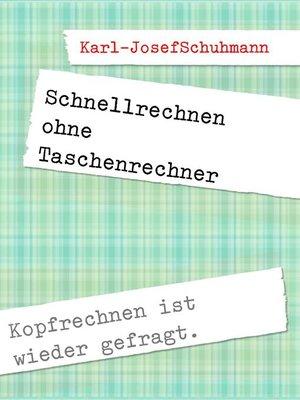 cover image of Schnellrechnen ohne Taschenrechner