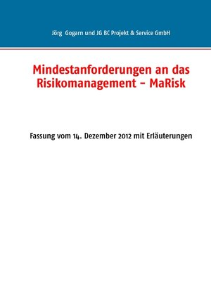 cover image of Mindestanforderungen an das Risikomanagement--MaRisk