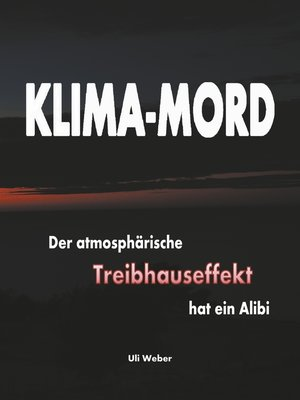 cover image of Klima-Mord