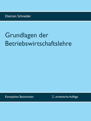 cover image of Grundlagen der Betriebswirtschaftslehre